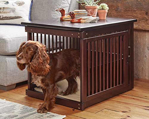 Orvis Wooden End-Table Crate/Large, Dark Brown, Large