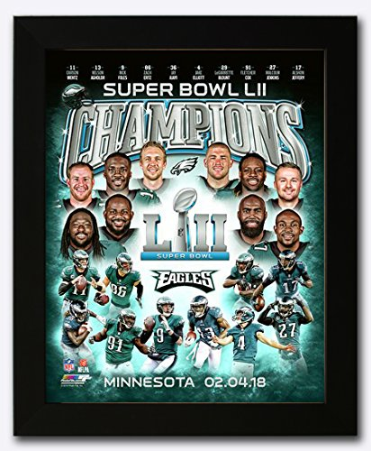 Framed Philadelphia Eagles Super Bowl 52 Champions Collage 8x10 Photo, Picture