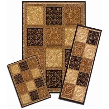 Amazon Com Achim Home Furnishings Capri 3 Piece Rug Set