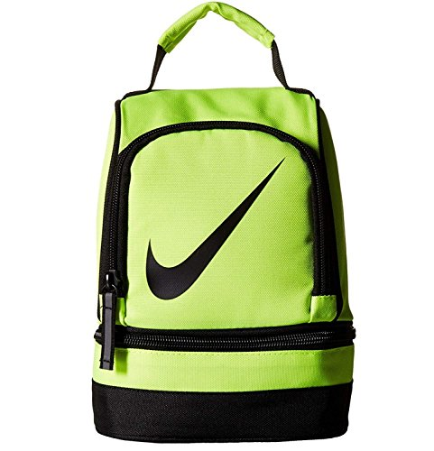 NIKE Insulated Dome Lunch Box Sport Tote (Volt with Black Iconic Signature Swoosh)