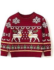 Ailee Hoho Toddler Boys Girls Knit Sweater Baby Dinosaur Warm Pullover Sweatshirt for Winter