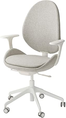 Ikea Hattefjall Swivel Chair With Armrests Gunnared Beige White 892 521 22 Amazon Co Uk Kitchen Home