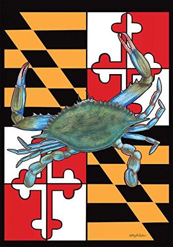 (Briarwood Lane Maryland Summer Garden Flag Crabs Nautical 12.5