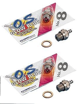 Set 2 unidades bujia Os numero 8, apta para motores de explosion Glow: Amazon.es: Juguetes y juegos