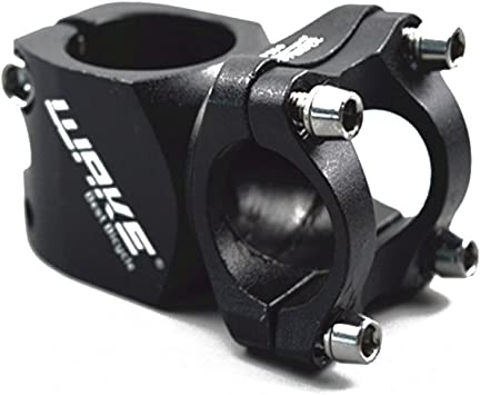 AOPEI Bike Stem Adjustable Mountain Bike Handlebar Stem for Bicycle Road,White,25.4
