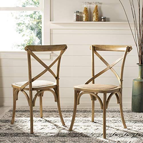 - Safavieh American Homes Collection Franklin Farmhouse X-Back Natural Side Chair (Set of 2)