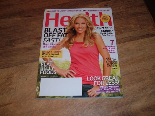 Health magazine, October 2009-Sheryl Crow-Her all natural anti-aging plant!