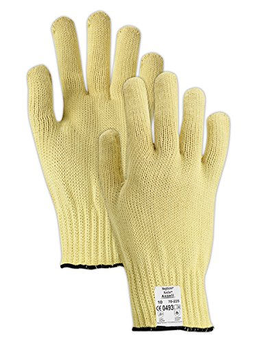 - Ansell 103774 Gold Knit 70-225 Heavyweight Kevlar Seamless Knit Gloves, Cut Level 3, 1