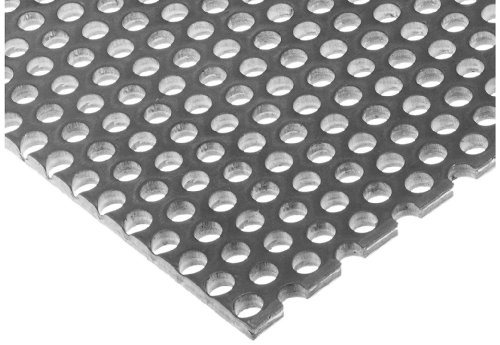 Finish Rolled Hot (A36 Steel Perforated Sheet, Unpolished (Mill) Finish, Hot Rolled, Staggered 0.5