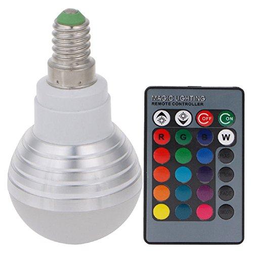Stage 1 Tvs Kit (Kocome E27 E14 GU10 MR16 3W RGB LED Light Bulb Spotlight Dimmable w/ Remote Controller (E14))