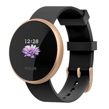 Reloj inteligente para mujer con monitor de actividad física, monitor de ritmo cardíaco con pantalla