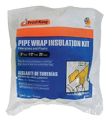 """Frost King Fiberglass Pipe Wrap Kits, 3""""x1/2""""x25'"""