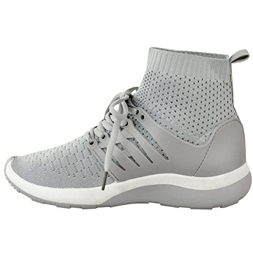 Ladies Grey Sock Fashion Thirsty Shoes Size Sneaker Comfy Runners Knit Womens Knit RwBAEp