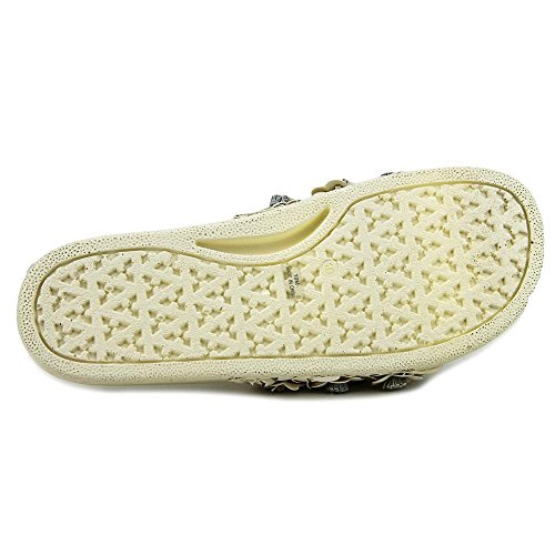 Avec Les Filles Womens Stella Open Toe Slide Flats White Floral aTr0o8n