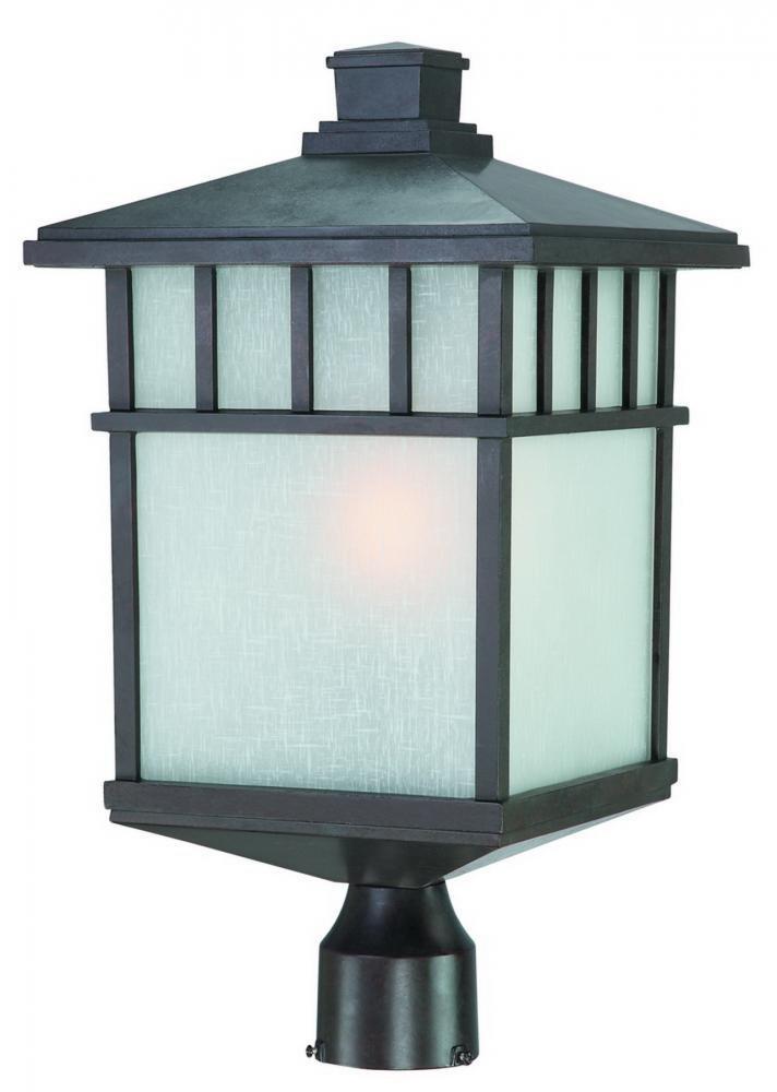 Dolan Designs 9118-34 Barton 1 Light Post Light, Olde World Iron