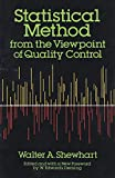 Statistical Method from the Viewpoint of Quality Control (Dover Books on Mathematics)