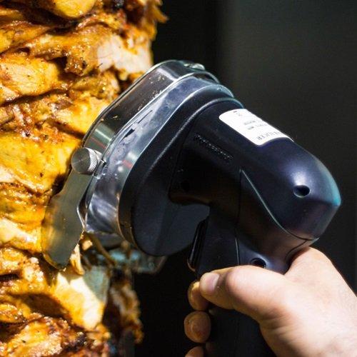 KeyTop 110V-120V/60hz Professional and Commercial Electric Shawarma Knife, Gyro Knife, Doner Kebab Slicer(Serrated Blade)