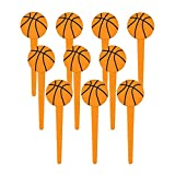 Funky Basketball Party Picks Party Decoration Supplies, 3', Pack of 36.