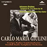 Brahms Symphony No.3. Ravel 'Mother Goose' Suite. (Swedish Radio Orchestra/ Carlo Maria Giulini