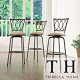 Metro Shop TRIBECCA HOME Avalon Scroll Adjustable Swivel Counter Barstool (Set of 3) Review