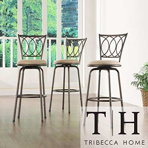 Metro Shop TRIBECCA HOME Avalon Scroll Adjustable Swivel Counter Barstool (Set of 3) - Avalon Bedroom Bedroom Set