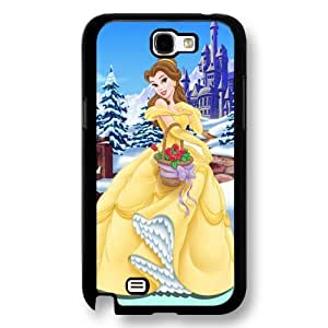 Disney Cartoon Beauty and The Beast, Hard Plastic Case for Samsung Galaxy Note 2 - Personalized Disney Note 2 Case - Black