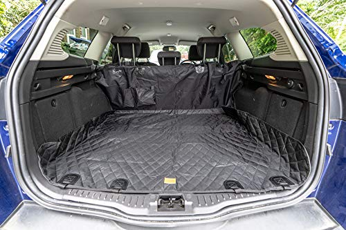 Car Seat Protector / Boot Liner. Heavy Duty. Protects from scratches. Waterproof – No more wet mud on seats. Washable. Sized to fit family cars and SUV's. Includes FREE pet seat belt & carry bag