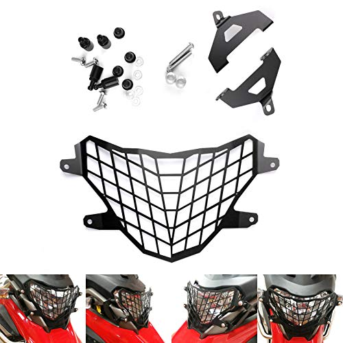 Areyourshop Motorcycle Headlight Lamp Grill Protector Guard Black For BMW G310GS 2017-2018