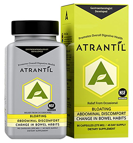 Atrantil (90 Clear Caps): Bloating, Abdominal Discomfort, Change in Bowel Habits, and Everyday Digestive - Natural Reguloid