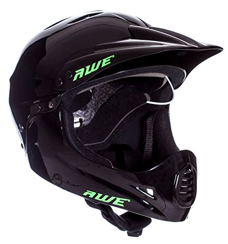 AWE FREE 5 YEAR CRASH REPLACEMENT Full Face Helmet Black Medium 54-58cm - Full Face Bike Helmet