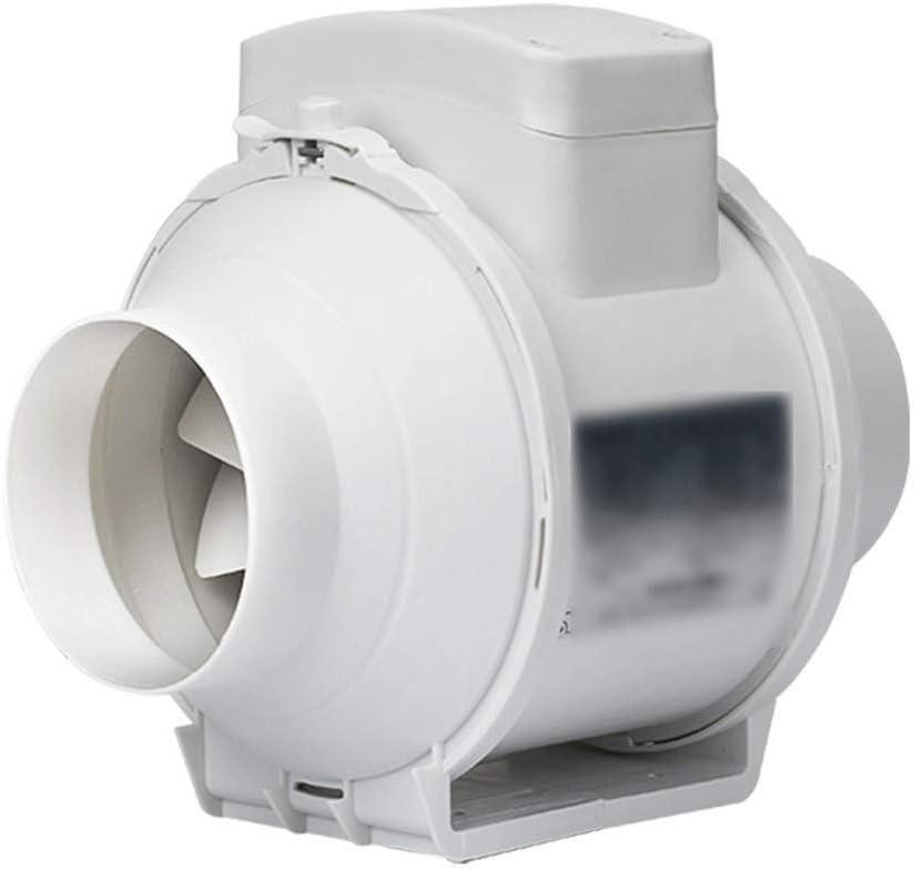 Extractor de ventilación 4 pulgadas Potente circular del conducto del ventilador silencioso de escape Industrial Tamaño de la pantalla del sistema: 255 * 255 mm Altura: 215 mm Especificación: 100mm