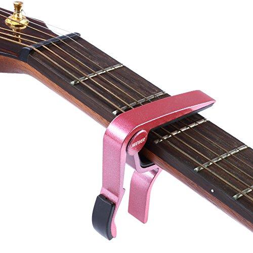Neewer Cejilla de Guitarra Color Rosado Capodastro Tune con una Sola Mano Accesorios
