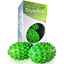 Life Miracle Dryer Balls -The BEST Permanent Non Toxic, Allergy and Chemical Free Fabric Softener. Replaces Liquid Softener, Dryer Sheets & Wool Dryer Balls. Soften Clothes Naturally 2 Year Warranty