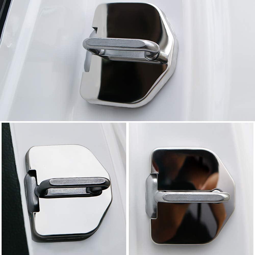 N//A 4Pcs Car Styling Copertura della Serratura Porta per Land Range Range Rover Evoque 2011-2020 Door Lock Cover Tappo Inossidabile Acciaio Automatica Protezione Accessori
