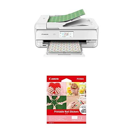 graphic regarding Printable Printers titled Canon TS9521C Wi-fi Creating Printer, 12X12 Printing, White Printable Nail Stickers, Suitable in the direction of PIXMA TS9520, TS9521C, TS8220 and TS702
