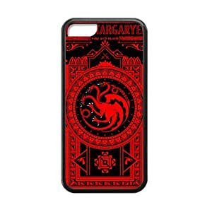 iphone covers Fashion Coolest Funny Game of Thrones House Targaryen Apple Iphone 5c Case Cover TPU Laser Technology Red HD pic Picture