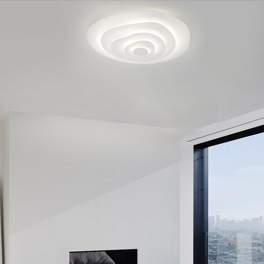 ZMH LED Deckenleuchte Dimmbar Fernbedienung, Farbewechsel Farbewechsel Farbewechsel stufenlos dimmbar 2700k-6500k Ø47cm Wohnzimmerlampe Deckenlampe Jahresring-Design Flur Badlampe Deckenbeleuchtung Wohnzimmer Lampe (Ø47cm) 603bb7