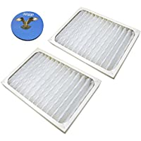 HQRP 2-pack Air Purifier Filter for Hunter 30928 Replacement fits HEPAtech Air Purifiers + HQRP Coaster