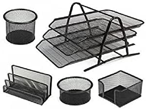Metal Desk Set, 5 Piece