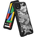 Ringke Fusion X Design Case Compatible with Google Pixel 4 XL Case, Impact Resistant Protection for Google Pixel 4XL Case (2019) - Camo Black (Color: Camo Black)