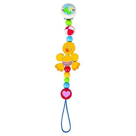Cuelgue Pato Heimess Chupete Multicolor: Amazon.es: Bebé