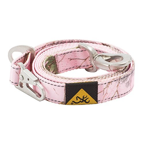 Lead Dog Light - Browning Classic Camo Dog Leash, Realtree Xtra Pink, 6ft X 1in
