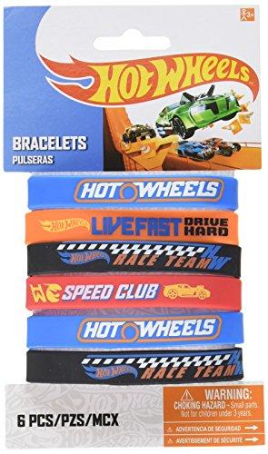 Hot Wheels Wild Racer Rubber Bracelet, Party Favor ()