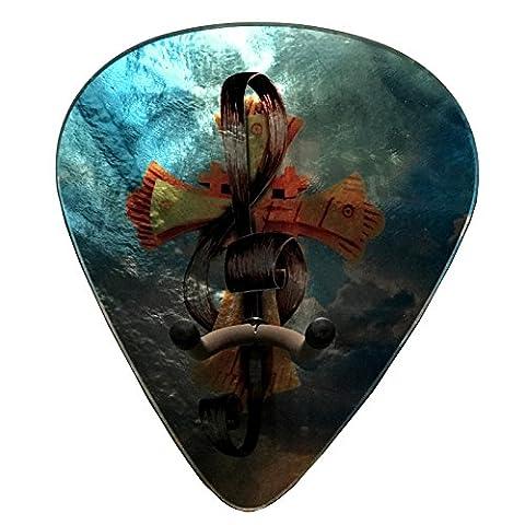 Axetreme Pick Guitar Wall Hanger - Christian Cross / Treble Clef - Clef Hanger