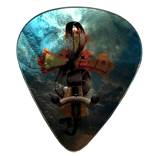 Axetreme Pick Guitar Wall Hanger - Christian Cross / Treble Clef