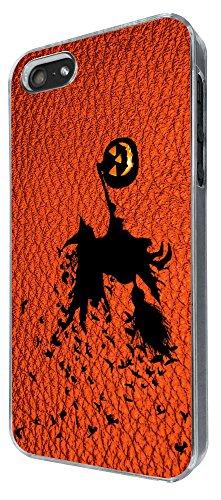 694 - Witch Pumpkin Halloween Leather Design iphone 5 5S Coque Fashion Trend Case Coque Protection Cover plastique et métal
