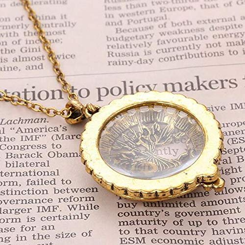 CliPons Vintage 5X Zoom Tree of Life Magnifier Magnifying Glass Pendant Necklace for Women Girls Jewelry