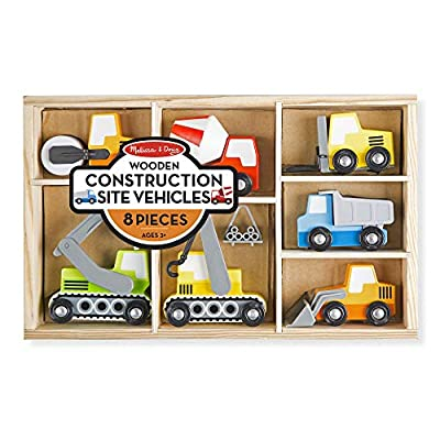 Melissa & Doug Wooden Construction Site Vehicles: Toys & Games
