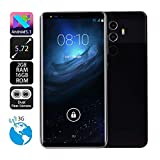 New 5.72 inch Dual HD Camera Smartphone Android IPS Screen 512M RAM+16GB ROM Touch Screen WiFi Bluetooth GPS 3G Call Mobile Phone Android 5.1 (Black)