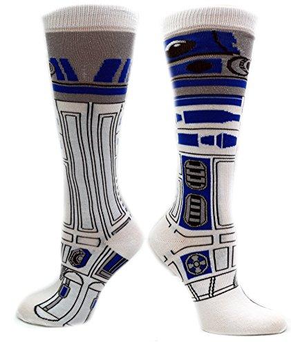 Star Wars R2-D2 (R2D2) Knee High Socks (Medium, (Jedi Costume Comic Con)